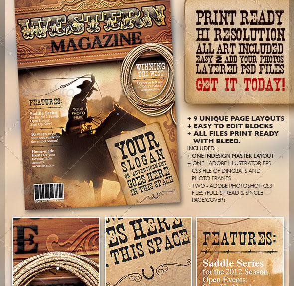 50 indesign & psd magazine cover & layout templates | web, Powerpoint templates