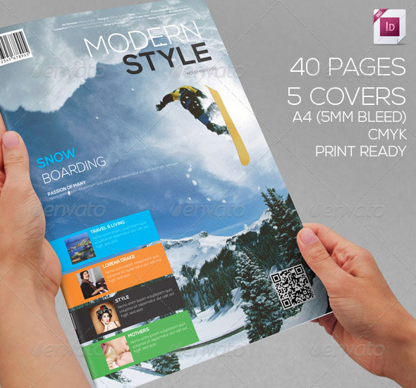 50 Indesign Psd Magazine Cover Layout Templates Bashooka