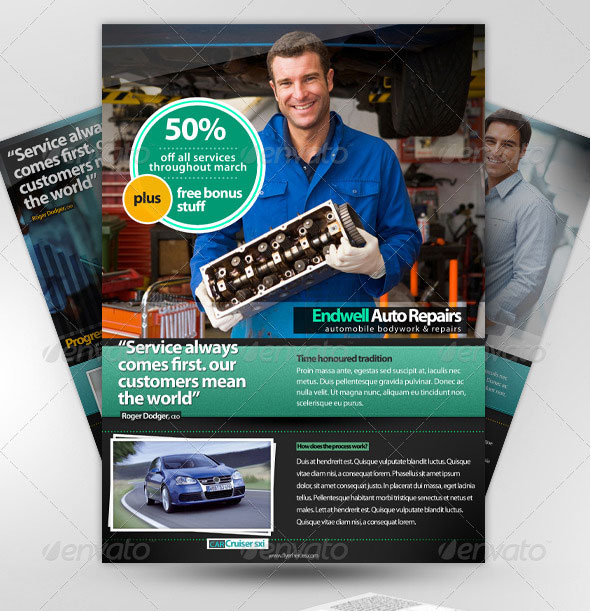 2x A4 PSD Magazine Advertisement Templates