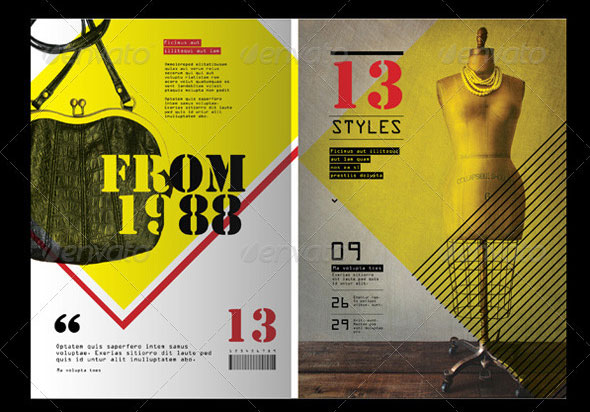 50 indesign psd magazine cover layout templates web for Magazine layout templates free download