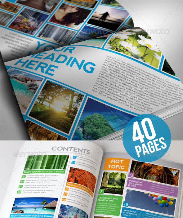 Indesign Cover Templates: 50 InDesign & PSD Magazine Cover & Layout Templates