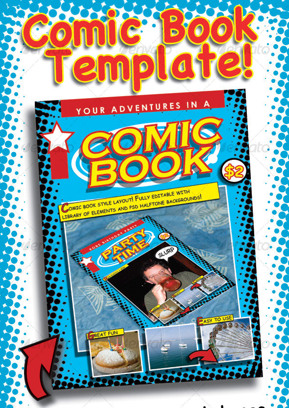 Comic Book Cover Template Psd : Indesign psd magazine cover layout templates web