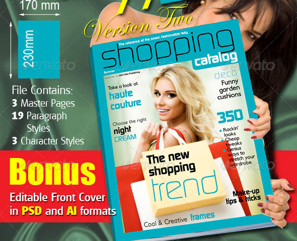 32 Pages Women Shopping Catalog Version Two