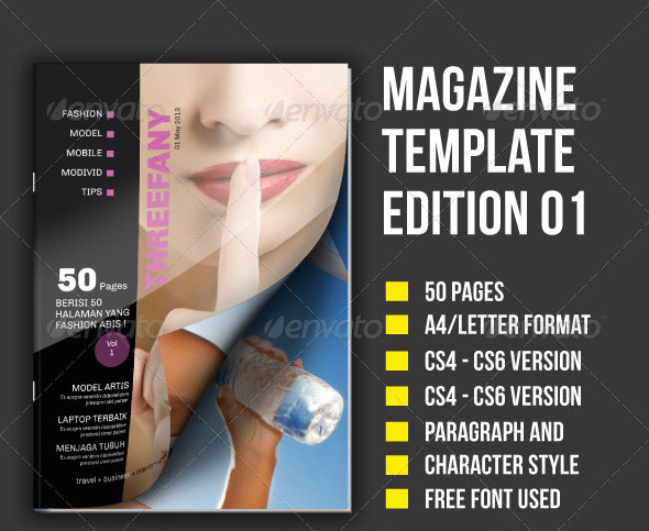 50 Pages Magazine Template E. 1