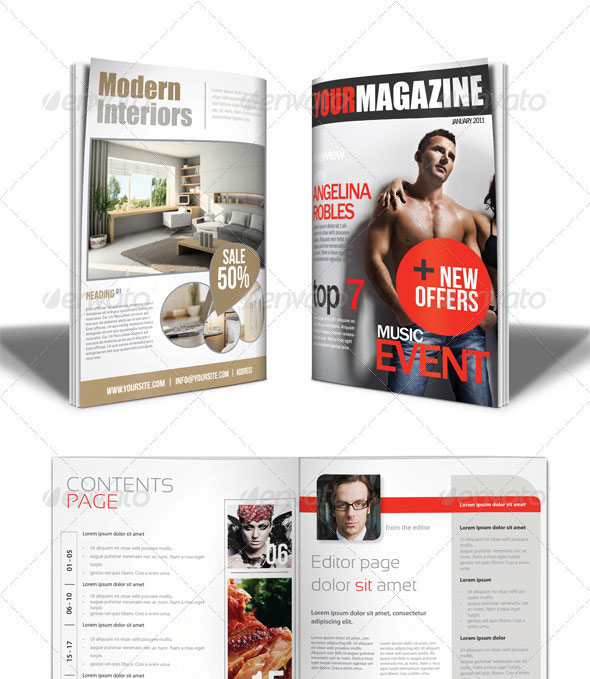 50 indesign psd magazine cover layout templates web Modern design magazine