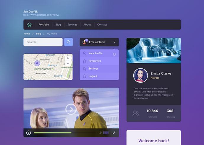 26 Web & Mobile UI Kits