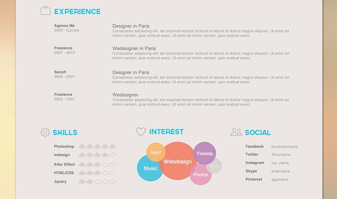 26 CV Resume Designs That Recruiters Will Love | Web U0026 Graphic Design |  Bashooka  Resume Designs