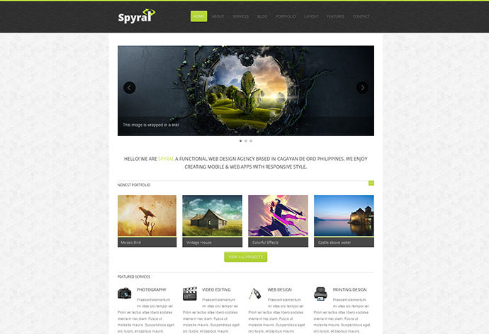 Spyral - Responsive Single Page Template
