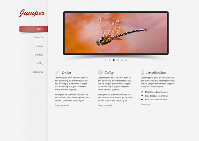 Jumper - one page template