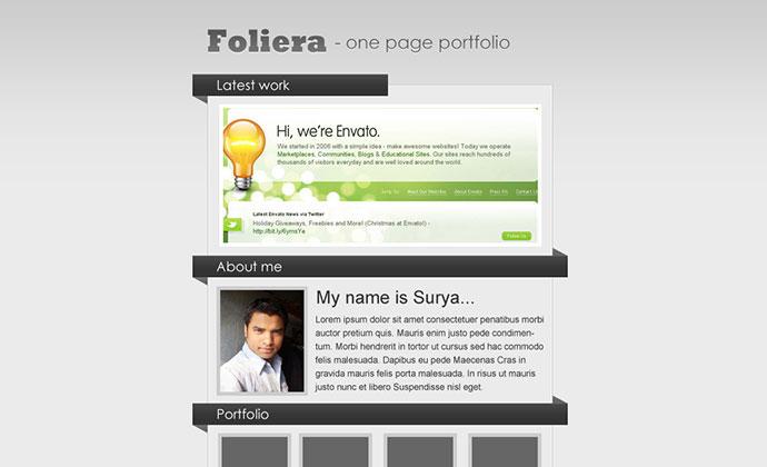 Foliera - One Page Portfolio