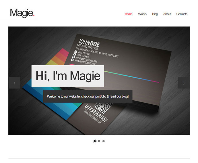 Magie One Page Website Template
