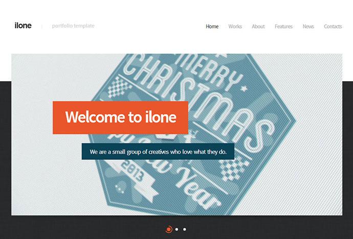 Ilone - One Page Portfolio Template