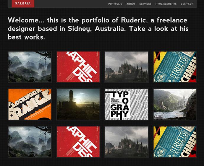 Galeria - Single Page Portfolio Template