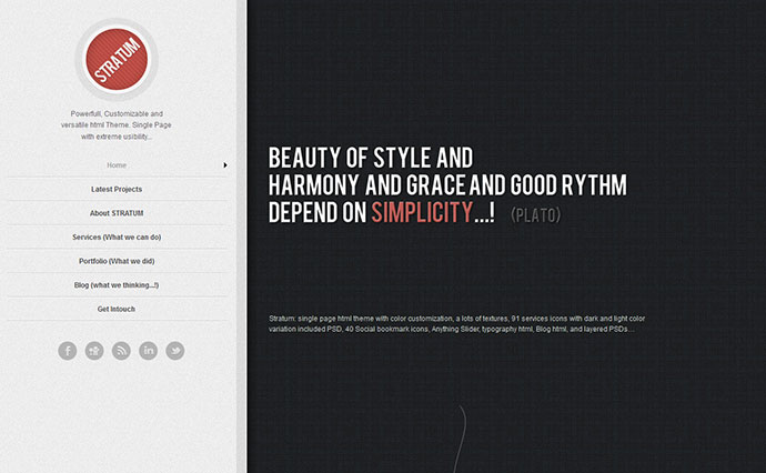 60 Best Single Page Website Templates | Web & Graphic Design | Bashooka