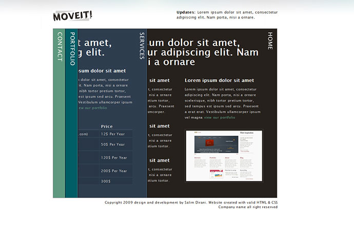 Moveit - single page creative portfolio
