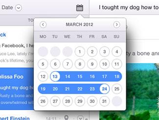 Email App Calendar