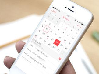 iOS 7 Calendar App Red