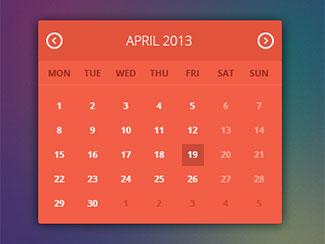 Flat UI - Calendar Widget