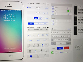 iOS 7 UI Kit (Free Dow...