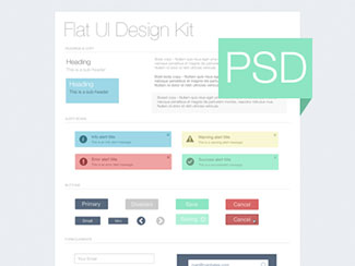 Flat UI Kit - Freebie PSD