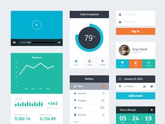 Freebie PSD: Flat UI Kit