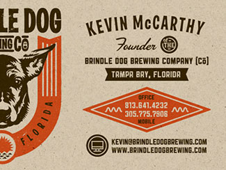 Brewery Business cards...
