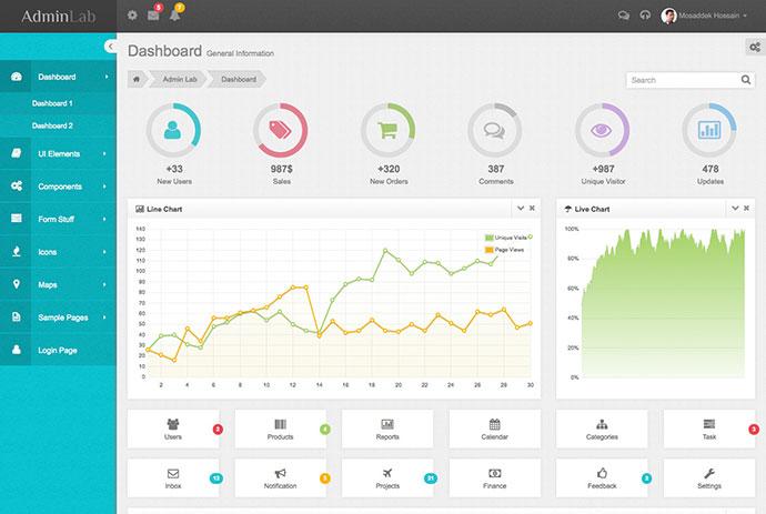 46 Free Amp Premium Bootstrap Admin Templates Web