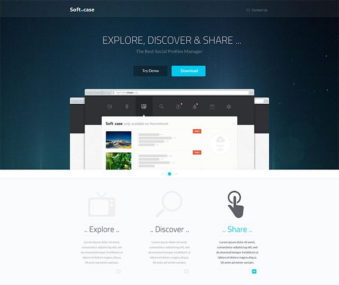 35 responsive bootstrap landing page templates web graphic design bashooka. Black Bedroom Furniture Sets. Home Design Ideas