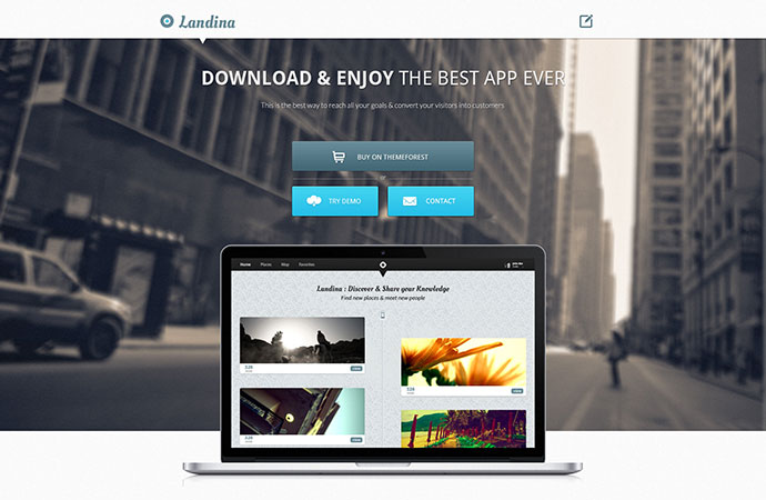 35 Responsive Bootstrap Landing Page Templates | Web & Graphic ...
