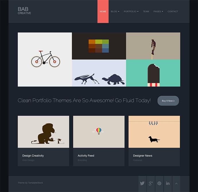 45 Best Bootstrap Portfolio Website Templates – Bashooka