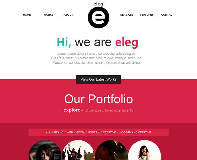 45 best bootstrap portfolio website templates  u2013 bashooka