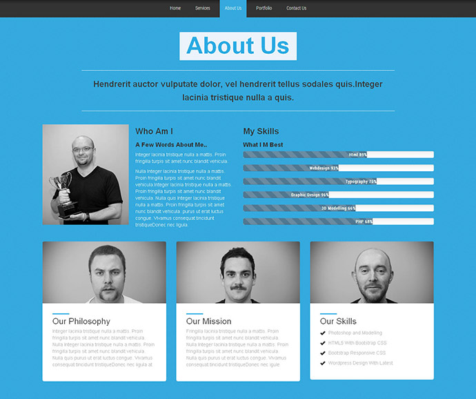 45 Best Bootstrap Portfolio Website Templates | Web & Graphic Design ...