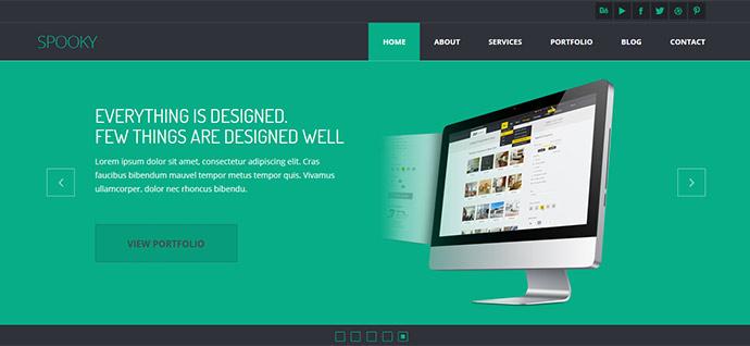 45 Best Bootstrap Portfolio Website Templates | Web & Graphic Design ...