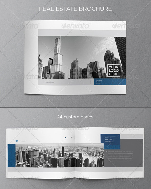 30 best brochure templates 2013 web graphic design for Real estate prospectus template