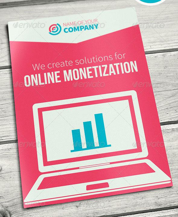 Online Business Brochure Flat Design