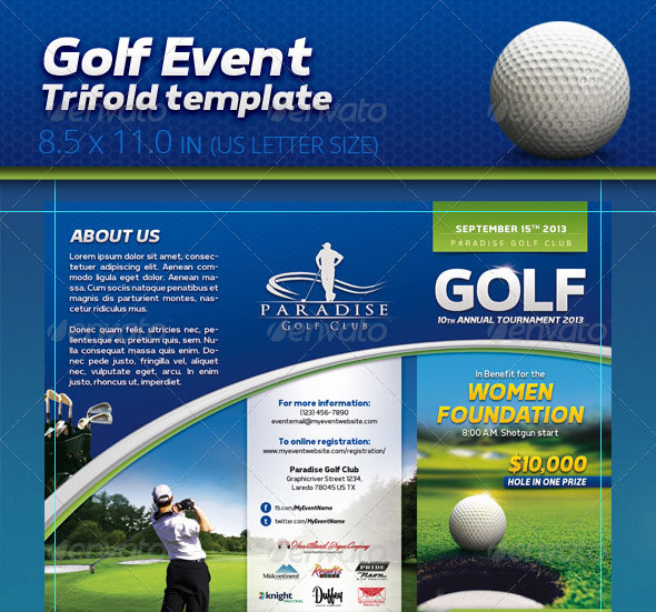 Golf Event Trifold Template