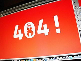 Gangnam style 404!