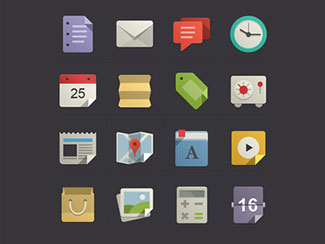 Flat Design Icons Set ...