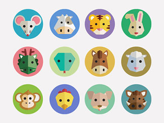 Chinese Zodiac Icons