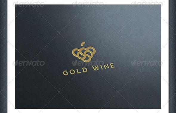 Gold Wine Logo Template