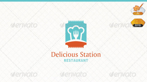 Delicious Station Restaurant Logo Template
