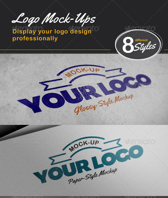8 Photo-Realistic Logo Mock-ups