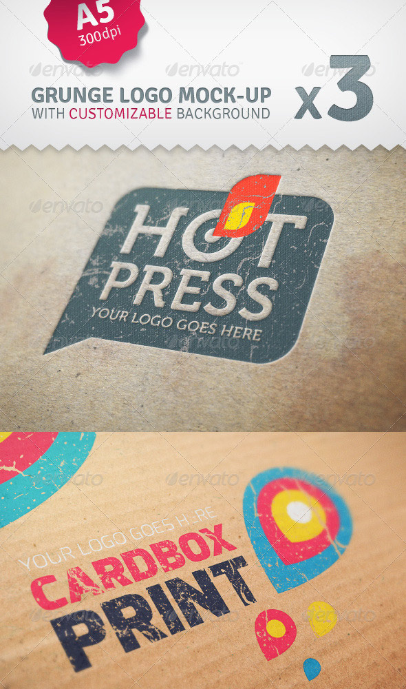 Cardboard Logo Mockup Pack With Custom Backgrounds