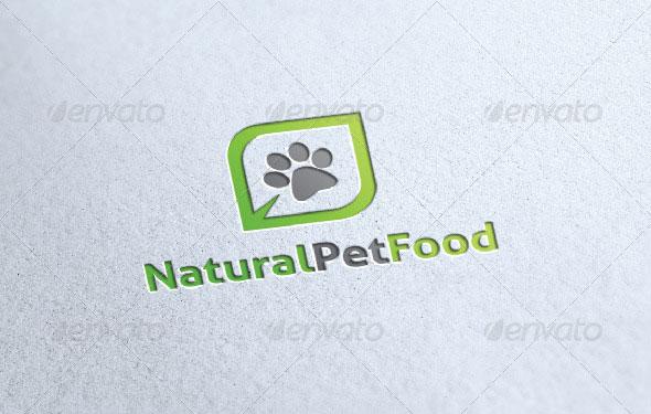 Natural Pet Food Logo Template