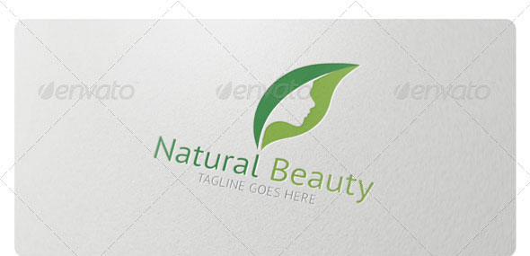 Natural Beauty Logo Template