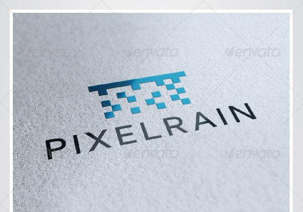 Pixel Rain Logo