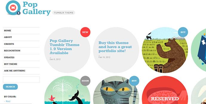 portfolio tumblr themes 29 - Graphic Design Portfolio Ideas