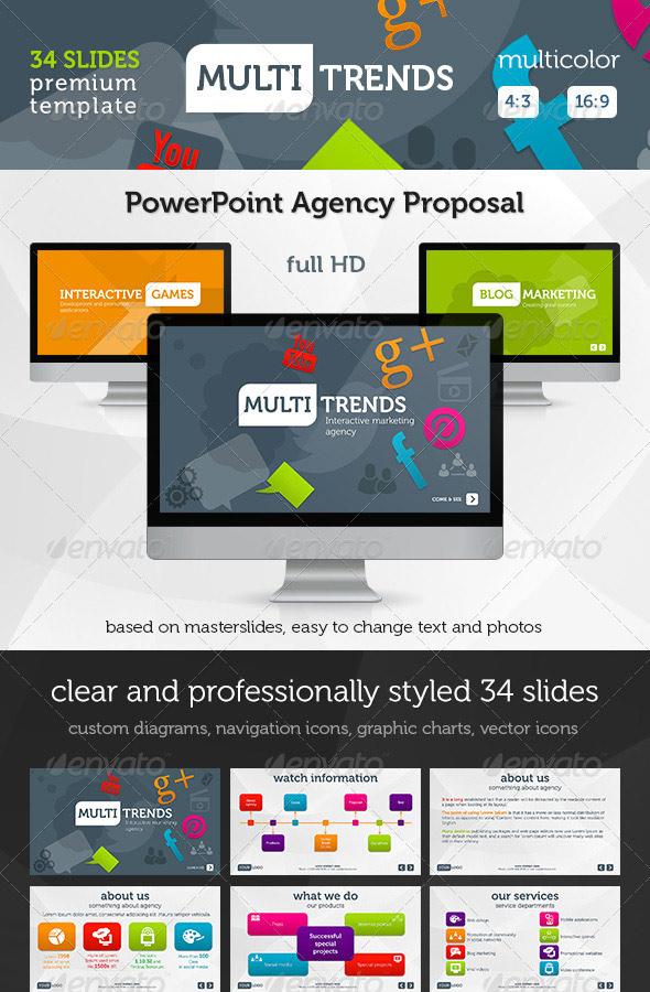 Multi Trends PowerPoint Presentation Template