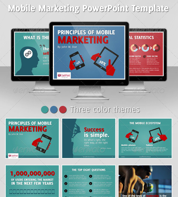 Mobile Marketing PowerPoint Template