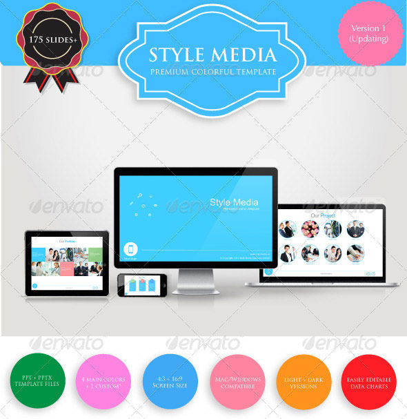 Style Media Premium PowerPoint Template